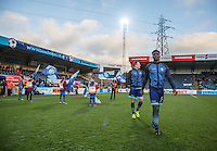 Anthony Stewart of Wycombe Wanderers heads onto the pitch during the Sky Bet League 2 match between Wycombe Wanderers and Newport County at Adams Park, High Wycombe, England on 2 January 2017. Photo by Andy Rowland.