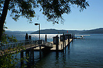 View of the Independence Point pier on the Coeur d'Alene Lake shore.