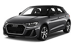 2019 Audi A1-Sportback S-Line 5 Door Hatchback Angular Front stock photos of front three quarter view