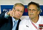 Austrian coach Josef Hickersberger (left) during the Austria-Poland match at Euro 2008. Austria-Poland 06122008, Wien, Austria