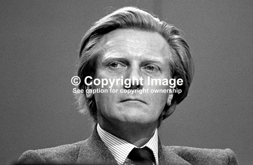 Michael Heseltine, MP, Conservative Party, UK, Secretary of State for the Environment, at annual conference. 198010000327b..Copyright Image from Victor Patterson, 54 Dorchester Park, Belfast, UK, BT9 6RJ..Tel: +44 28 9066 1296.Mob: +44 7802 353836.Voicemail +44 20 8816 7153.Skype: victorpattersonbelfast.Email: victorpatterson@mac.com.Email: victorpatterson@ireland.com (back-up)..IMPORTANT: If you wish to use this image or any other of my images please go to www.victorpatterson.com and click on the Terms & Conditions. Then contact me by email or phone with the reference number(s) of the image(s) concerned.
