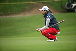 Min Song Ha of South Korea studies her next move at the 11th hole during Round 3 of the World Ladies Championship 2016 on 12 March 2016 at Mission Hills Olazabal Golf Course in Dongguan, China. Photo by Victor Fraile / Power Sport Images