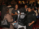 Carla R Stewart  and Cast members of 'The Color Purple' host a meet and greet with kids from PAL at The Jacobs Theatre on December 7, 2016 in New York City.