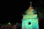 Israel, Jerusalem, Light in Jerusalem festival, Absalom's tomb in Kidron valley