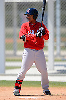 Boston Red Sox infielder Tzu-Wei Lin #10 during a minor league Spring Training game against the Minnesota Twins at JetBlue Park Training Complex on March 27, 2013 in Fort Myers, Florida.  (Mike Janes/Four Seam Images)