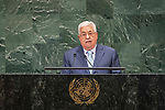 LOS general debate – 27 September<br /> <br /> AM<br /> <br /> His Excellency Mahmoud Abbas, President, State of Palestine