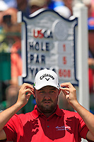 Marc Leishman (AUS) on the 1st tee to start his match during Thursday's Round 1 of the 117th U.S. Open Championship 2017 held at Erin Hills, Erin, Wisconsin, USA. 15th June 2017.<br /> Picture: Eoin Clarke | Golffile<br /> <br /> <br /> All photos usage must carry mandatory copyright credit (&copy; Golffile | Eoin Clarke)