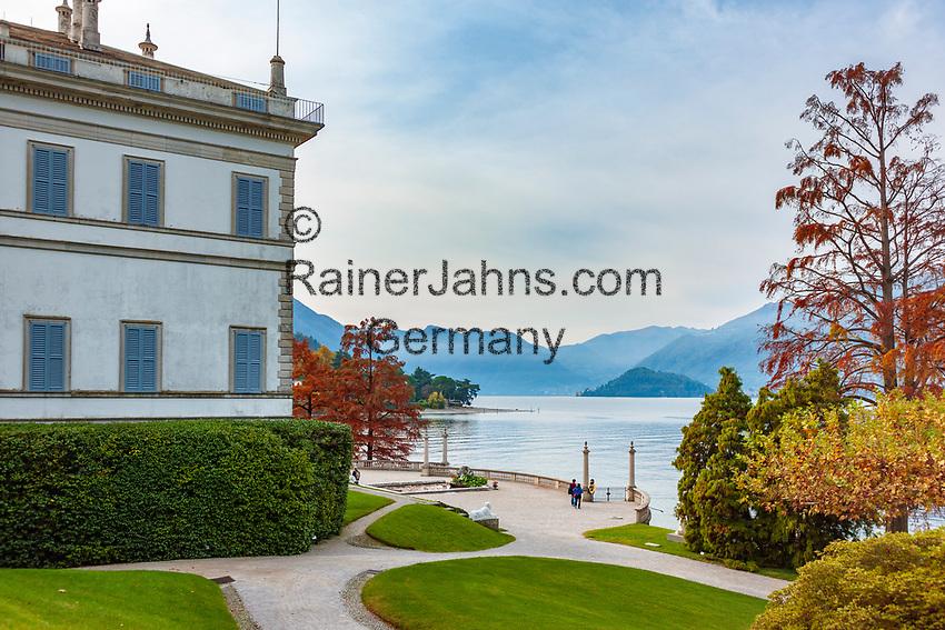 Italy, Lombardia, Bellagio: villa Melzi with park | Italien, Lombardei, Bellagio: Villa Melzi mit Park direkt am Comer See