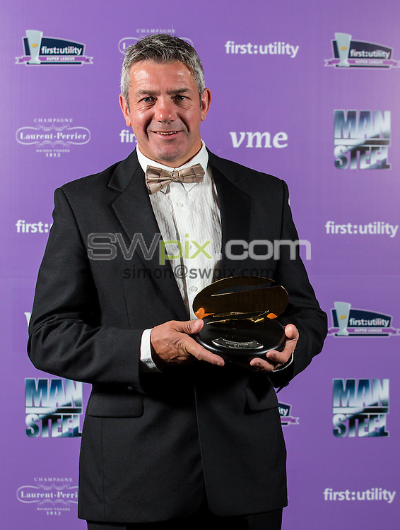 Picture by Alex Whitehead/SWpix.com - 08/10/2014 - Rugby League - 2014 First Utility Super League Man of Steel Awards Dinner - Emirates Old Trafford, Manchester, England - Castleford Tigers' Daryl Powell wins the Coach of the Year.