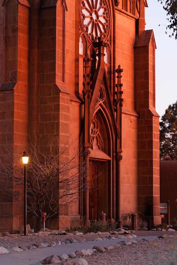 Facade of the Loretto Chapel, Santa Fe, New Mexico