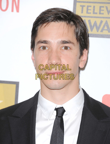 Justin Long.The 2nd Annual Critics' Choice Television Awards  held at The Beverly Hilton in Beverly Hills, California, USA..June 18th, 2012.headshot portrait black white tie suit shirt.CAP/RKE/DVS.©DVS/RockinExposures/Capital Pictures.