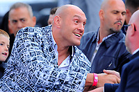 Tyson Fury looks on during a Boxing Show at Stevenage Football Club on 18th May 2019