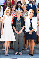 Queen Letizia of Spain, Madrid Mayor Manuela Carmena during the 25th edition of FEDEPE Awards at Jardines de Cecilio Rodriguez in Madrid, Spain. July 26, 2016. (ALTERPHOTOS/BorjaB.Hojas)
