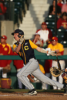 Chris Paul #6 of the California Bears bats against the USC Trojans at Dedeaux Field on April 5, 2012 in Los Angeles,California. California defeated USC 5-4.(Larry Goren/Four Seam Images)