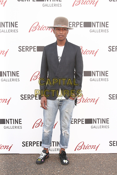 LONDON, UNITED KINGDOM - JULY 01: Pharrell Williams attends the annual Serpentine Gallery Summer Party at The Serpentine Gallery on July 1, 2014 in London, England<br /> CAP/ROS<br /> &copy;Steve Ross/Capital Pictures