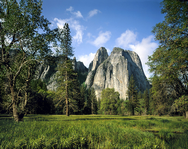 Cathedral Spires in Yosemite Valley, Yosemite National Park, Merced, California, USA. .  John offers private photo tours throughout the western USA, especially Colorado. Year-round. John offers private photo tours in Yosemite National Park and throughout California and Colorado. Year-round.