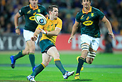 9th September 2017, nib Stadium, Perth, Australia; Supersport Rugby Championship, Australia versus South Africa; Bernard Foley of the Australian Wallabies passes the ball during the second half