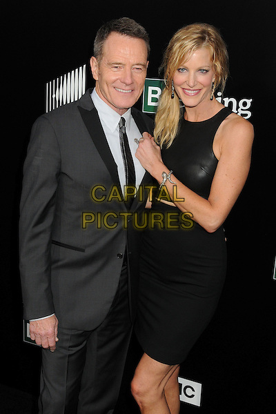 Bryan Cranston, Anna Gunn<br /> &quot;Breaking Bad&quot; Final Episodes Los Angeles Premiere Screening held at Sony Pictures Studios, Culver City, California, USA, 24th July 2013.<br /> half length black leather dress hand white shirt grey gray suit tie <br /> CAP/ADM/BP<br /> &copy;Byron Purvis/AdMedia/Capital Pictures