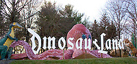 Dinosaur Land sign located in White Post, Virginia.