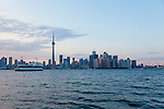 Center Island affords lovely views of the skyline of downtown Toronto and CN Tower.