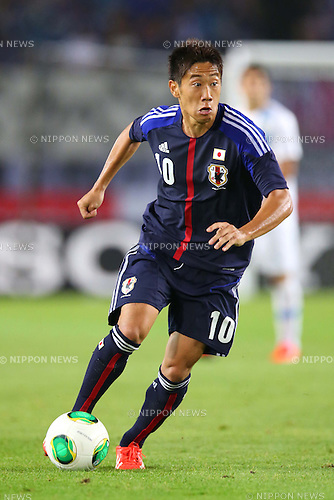 Shinji Kagawa (JPN), AUGUST 14, 2013 - Football / Soccer : <br /> KIRIN Challenge Cup 2013 match <br /> between Japan 2-4 Uruguay <br /> at Miyagi Stadium, Miyagi, Japan.<br />  (Photo by AFLO SPORT)