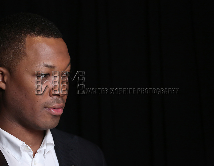 Corey Hawkins attends the 2017 Tony Awards Meet The Nominees Press Junket at the Sofitel Hotel on May 3, 2017 in New York City.