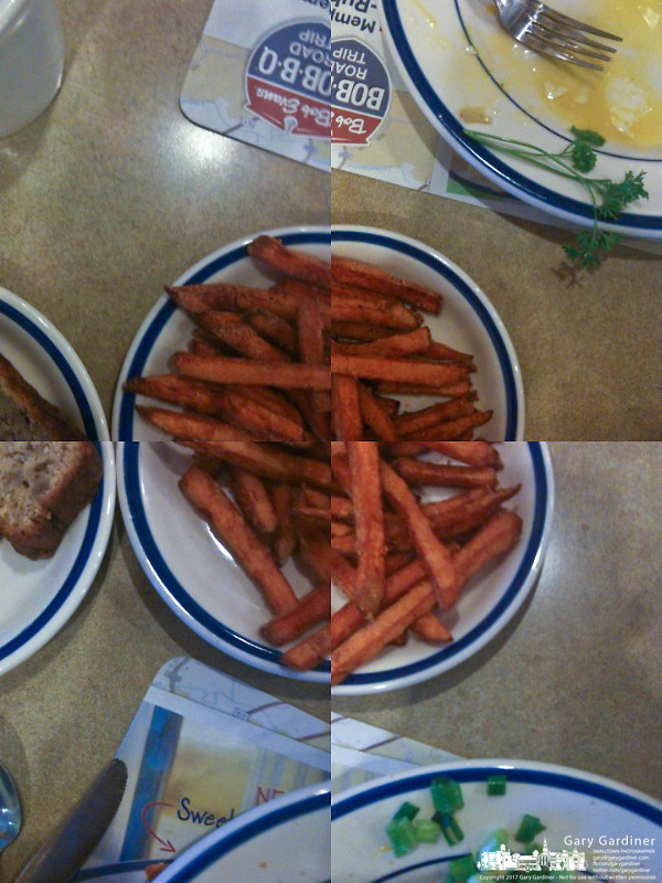 Sweet potato french fries with iPhone 3G2 and QuadCamera app.