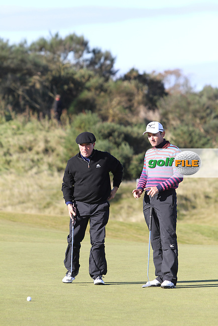 Tico Torres (AM) with Ignacio Garrido (ESP) on the 1st in Kingsbarns on the 3rd Day at the Alfred Dunhill Links Championship, Old Course St. Andrews, Carnoustie and Kingsbarns, Scotland...(Photo Jenny Matthews/www.golffile.ie)
