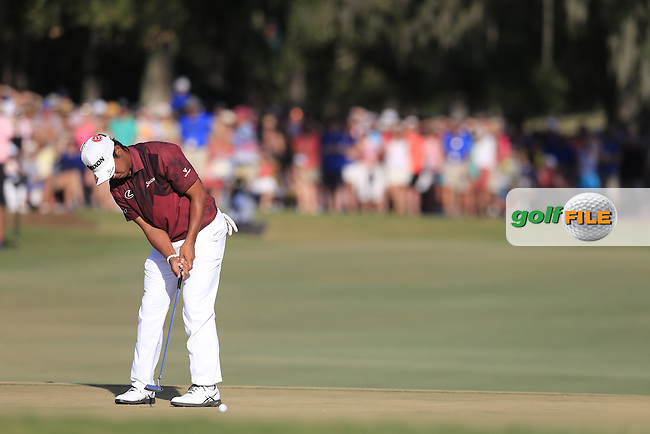 Hideki Matsuyama (JAP) on the 18th during the final round of the Players, TPC Sawgrass, Championship Way, Ponte Vedra Beach, FL 32082, USA. 15/05/2016.<br /> Picture: Golffile | Fran Caffrey<br /> <br /> <br /> All photo usage must carry mandatory copyright credit (&copy; Golffile | Fran Caffrey)
