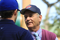 Singer Justin Timberlake and actor Bill Murray on the 1st tee for the Captains/Celebrity scramble exhibition during Monday's Practice Day of the 39th Ryder Cup at Medinah Country Club, Chicago, Illinois 25th September 2012 (Photo Eoin Clarke/www.golffile.ie)