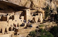Mesa Verde Indian cliff dwellings in Colorado USA