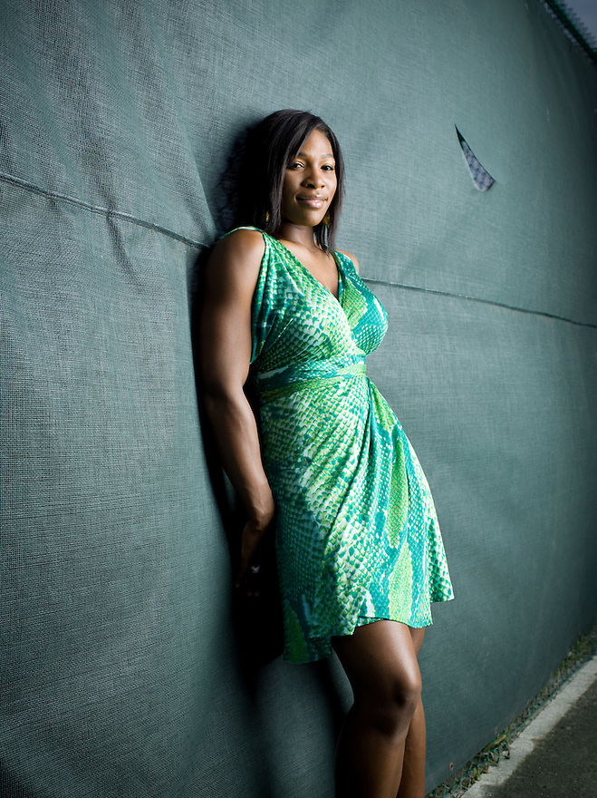 Tennis star Serena Williams photographed at her home court at BallenIsles in Palm Beach Gardens, Florida for Time Magazine on May 11, 2007. Hair & Make-up: Gina Simone, Location: BallenIsles
