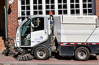 A Bucher Citycat 2020 street washer is seen on the rue St-Jean street sidewalk in Quebec city May 4, 2009.