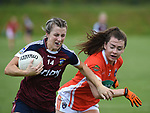 Westmeath Johanna Maher Armagh Clodagh McCambridge. Photo:Colin Bell/pressphotos.ie