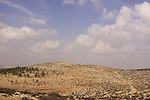 Israel, Southern Hebron Mountain, the ancient Roman road on Mount Amasa.