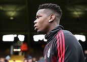 9th February 2019, Craven Cottage, London, England; EPL Premier League football, Fulham versus Manchester United; Paul Pogba of Manchester United looks on