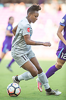 Orlando, FL - Sunday May 14, 2017: Taylor Smith during a regular season National Women's Soccer League (NWSL) match between the Orlando Pride and the North Carolina Courage at Orlando City Stadium.