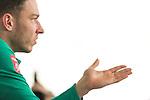 09.01.2020, Sportzentrum RCD Mallorca, Son Bibiloni, ESP, TL Werder Bremen -  Training Tag 07<br /> <br /> im Bild / picture shows <br /> <br /> Jiri Pavlenka (Werder Bremen #01)<br /> Mixedzone Medienrunde <br /> Einzelaktion, Ganzkörper / Ganzkoerper<br /> Freisteller Halbportrait Gestik, Mimik,<br /> Foto © nordphoto / Kokenge