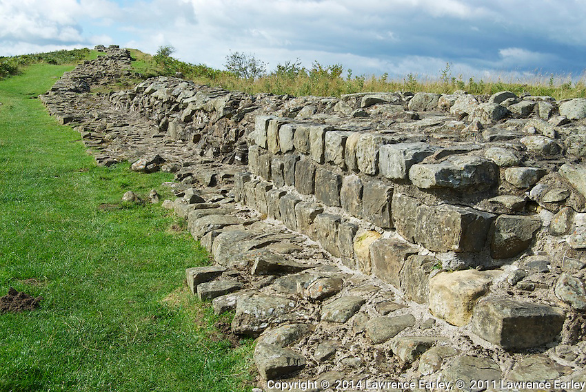 Day 2 - Originally the WAll's two sides had carefully dressed stones, filled in the middle with rock rubble that was slathered over with mortar.