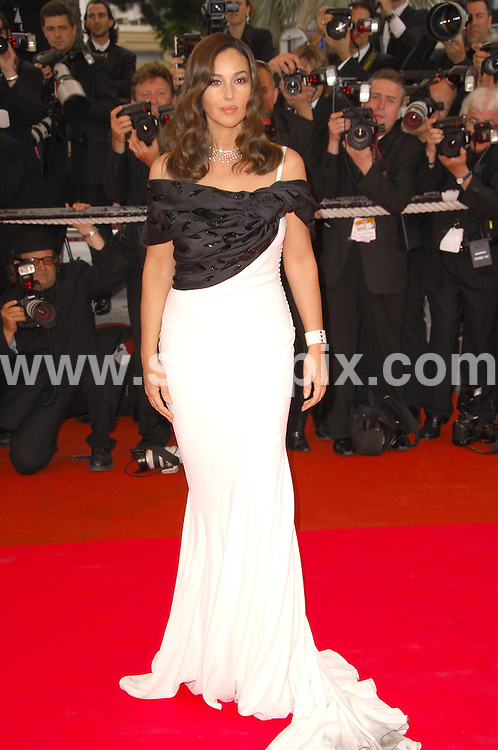 **ALL ROUND PICTURES FROM SOLARPIX.COM**.**WORLDWIDE SYNDICATION RIGHTS**.Guests arrive for the red carpet premiere of Silence De Lorna at the 61st Cannes film festival. Cannes, France. 19th May 2008..This pic: Monica Bellucci..JOB REF: 6461 MSR    DATE: 19_05_2008.**MUST CREDIT SOLARPIX.COM OR DOUBLE FEE WILL BE CHARGED* *UNDER NO CIRCUMSTANCES IS THIS IMAGE TO BE REPRODUCED FOR ANY ONLINE EDITION WITHOUT PRIOR PERMISSION*