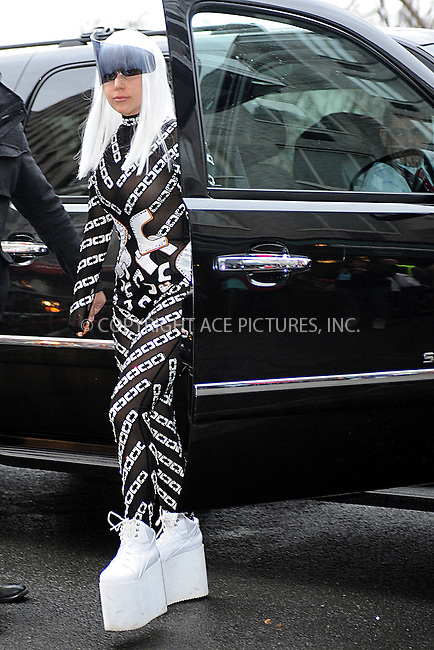 WWW.ACEPIXS.COM <br /> March 28, 2014 New York City<br /> <br /> Lady Gaga leaving to the Roseland Ballroom in Manhattan on March 28, 2014 in New York City.<br /> <br /> Please byline: Kristin Callahan  <br /> <br /> ACEPIXS.COM<br /> Ace Pictures, Inc<br /> tel: (212) 243 8787 or (646) 769 0430<br /> e-mail: info@acepixs.com<br /> web: http://www.acepixs.com