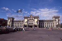 The National Palace or Palacio Nacional on the Plaza Mayor in Guatemala City, Guatemala