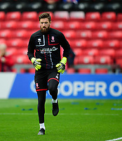 Lincoln City's Josh Vickers during the pre-match warm-up<br /> <br /> Photographer Andrew Vaughan/CameraSport<br /> <br /> The EFL Sky Bet League One - Lincoln City v Sunderland - Saturday 5th October 2019 - Sincil Bank - Lincoln<br /> <br /> World Copyright © 2019 CameraSport. All rights reserved. 43 Linden Ave. Countesthorpe. Leicester. England. LE8 5PG - Tel: +44 (0) 116 277 4147 - admin@camerasport.com - www.camerasport.com