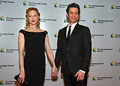 Thomas Kail and Angela Christian arrive for the formal Artist's Dinner honoring the recipients of the 41st Annual Kennedy Center Honors hosted by United States Deputy Secretary of State John J. Sullivan at the US Department of State in Washington, D.C. on Saturday, December 1, 2018. The 2018 honorees are: singer and actress Cher; composer and pianist Philip Glass; Country music entertainer Reba McEntire; and jazz saxophonist and composer Wayne Shorter. This year, the co-creators of Hamilton­ writer and actor Lin-Manuel Miranda, director Thomas Kail, choreographer Andy Blankenbuehler, and music director Alex Lacamoire will receive a unique Kennedy Center Honors as trailblazing creators of a transformative work that defies category.<br /> Credit: Ron Sachs / Pool via CNP