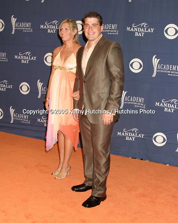 Josh Gracin and wife.Academy of Country Music Awards.Mandalay Bay.Las Vegas, NV.May 17, 2005.©2005 Kathy Hutchins / Hutchins Photo...