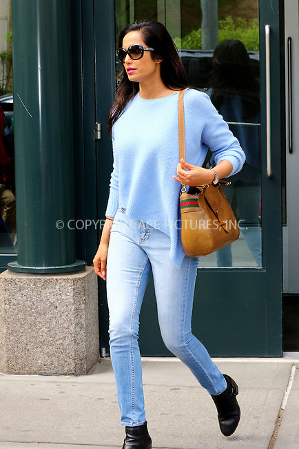 WWW.ACEPIXS.COM<br /> <br /> May 10 2016, New york City<br /> <br /> TV personality Padma Lakshmi leaves her Soho apartment on May 10 2016 in New York City<br /> <br /> By Line: Zelig Shaul/ACE Pictures<br /> <br /> <br /> ACE Pictures, Inc.<br /> tel: 646 769 0430<br /> Email: info@acepixs.com<br /> www.acepixs.com