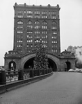 Pittsburgh PA - View of the Pennsylvania Railroad's Pittsburgh Penn Station during the Christmas Holidays - 1958