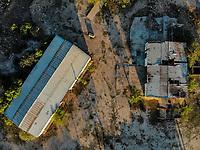 Aerial view of abandoned winery in the ejido la Victoria. Old, deterioration, abandonment. (Photo: Luis Gutierrez / NortePhoto.com)<br /> Vista a&eacute;rea de bodega  abandonada en el ejido la Victroria. Viejo, deterioro , abandono. <br />  (Foto: Luis Gutierrez / NortePhoto.com)