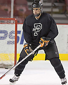 Brian Carthas - Princeton University Tigers took part in their morning skate on Friday, December 30, 2005 before facing the University of Denver in their first game of the Denver Cup at Magness Arena in Denver, Colorado.  Princeton defeated DU that evening 4-1.