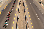 The peleton in action during Stage 5 of the 2018 Tour of Oman running 152km from Sam'il to Jabal Al Akhdhar. 17th February 2018.<br /> Picture: ASO/Muscat Municipality/Kare Dehlie Thorstad | Cyclefile<br /> <br /> <br /> All photos usage must carry mandatory copyright credit (&copy; Cyclefile | ASO/Muscat Municipality/Kare Dehlie Thorstad)